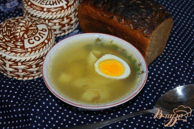 фото рецепта: Куриный бульон с макаронами и яйцом