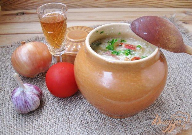 фото рецепта: Классический кулеш с помидорами в горшочке