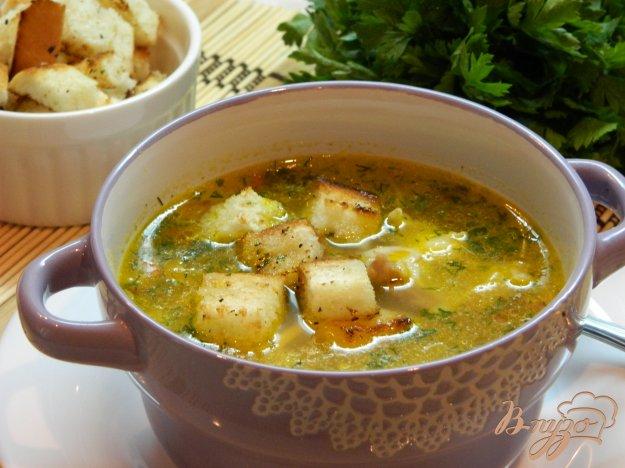 фото рецепта: Картофельный суп с сухариками