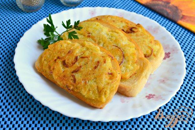 фото рецепта: Гренки с картофелем и луком
