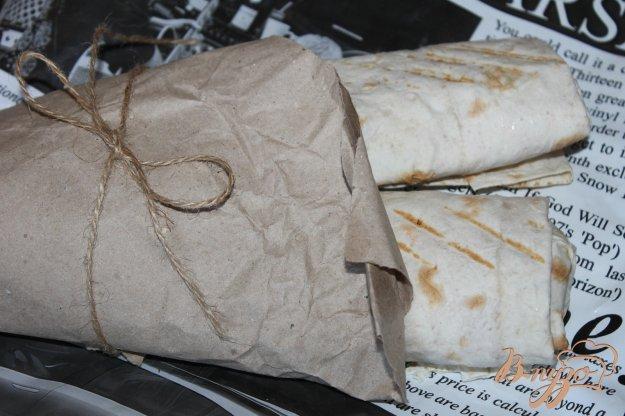 фото рецепта: Шашлык в лаваше с сыром