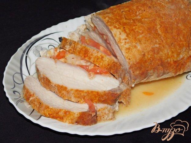 фото рецепта: Запеченное мясо с начинкой