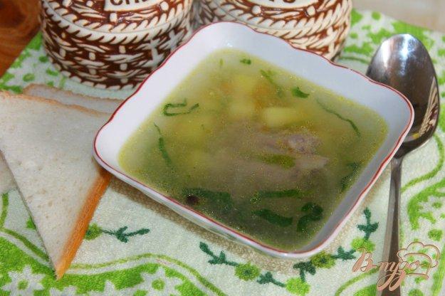 фото рецепта: Картофельный суп со шпинатом и свиными ребрами