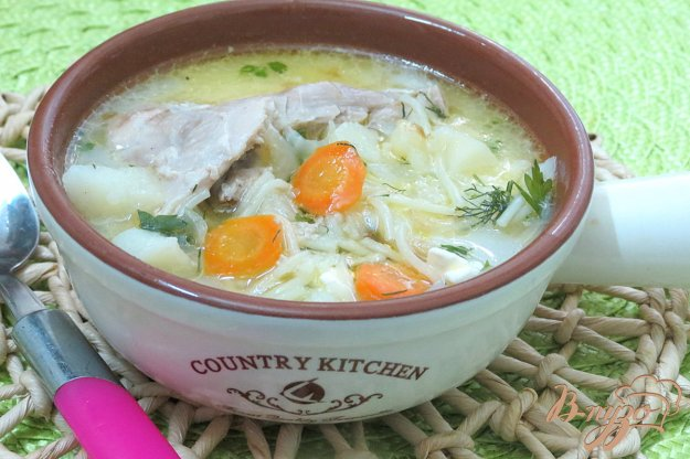 фото рецепта: Куриный суп с плавленым сыром