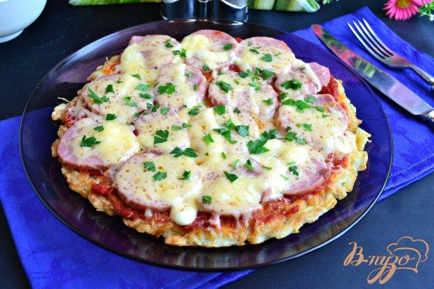 фото рецепта: Картофельная пицца на сковороде