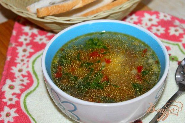 фото рецепта: Суп из цветной капусты, кабачка и помидора