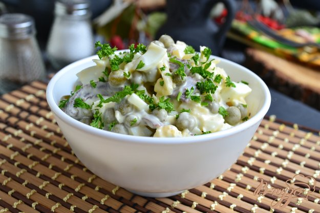 фото рецепта: Грибной салат с сыром