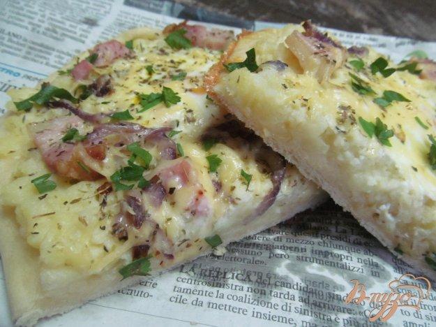фото рецепта: Картофельная пицца с яйцом