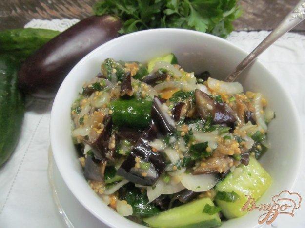 фото рецепта: Маринованные баклажаны с огурцом