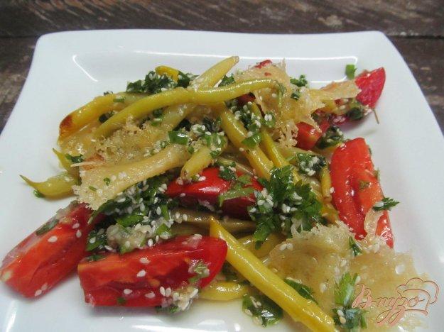 фото рецепта: Теплый салат из восковой фасоли
