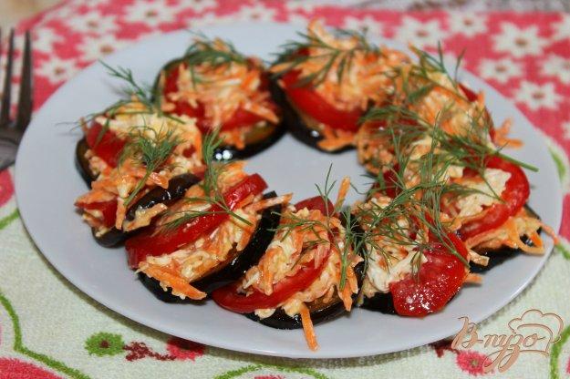 фото рецепта: Баклажаны с морковью и плавленым сыром