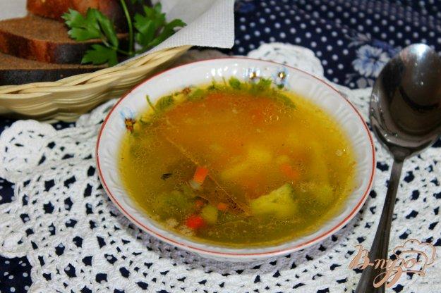 фото рецепта: Картофельный суп с брокколи на бульоне