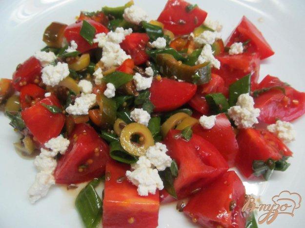 фото рецепта: Овощной салат с творогом