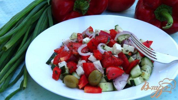 фото рецепта: Греческий салат с брынзой