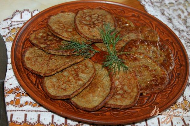 фото рецепта: Печеночные оладьи с грибами