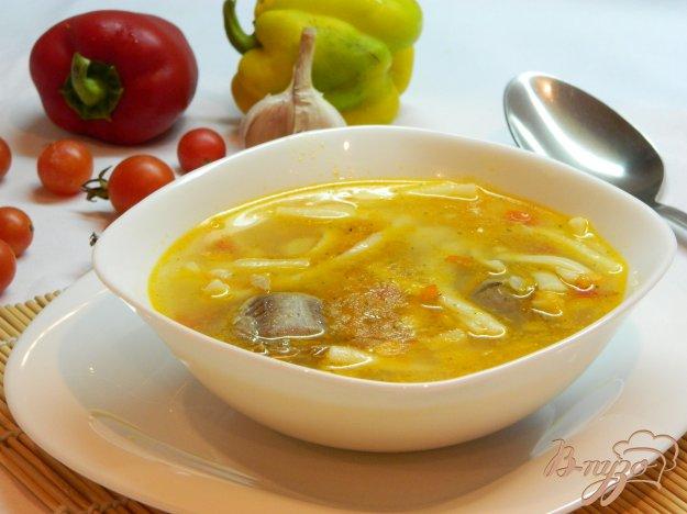 фото рецепта: Суп с лапшой на утином бульоне