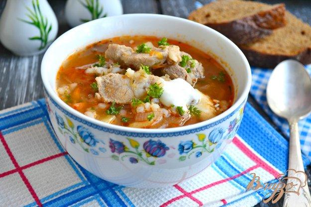 фото рецепта: Суп с перловкой и мясом
