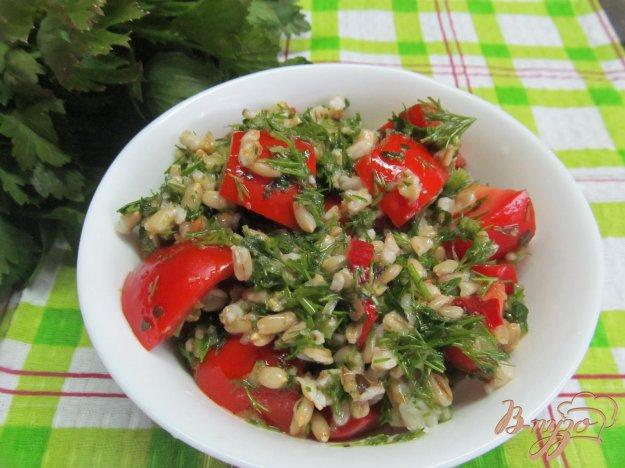 фото рецепта: Салат из овса с помидором