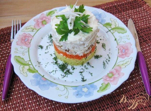 Адмиральский салат с редькой