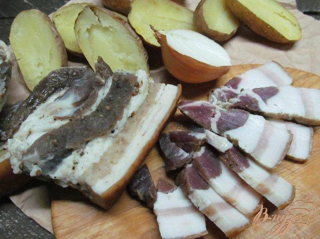 фото рецепта: Соленое сало с чесноком и специями