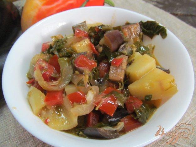 фото рецепта: Аджапсандал с жареным картофелем