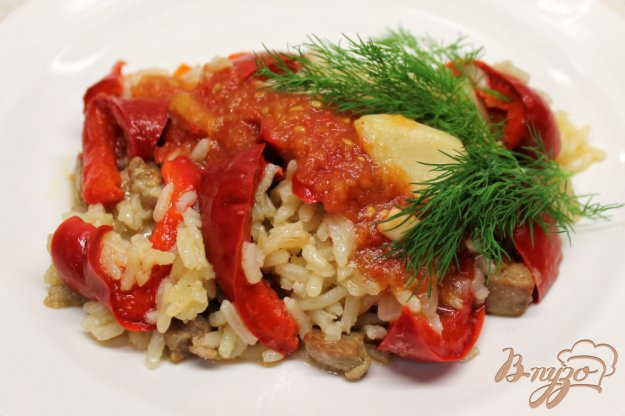 фото рецепта: Рис со свининой и перцем ротонда