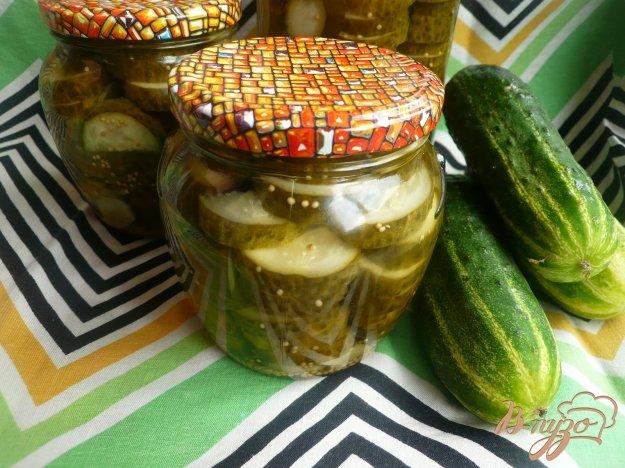 фото рецепта: Огурцы с зернами горчицы на зиму