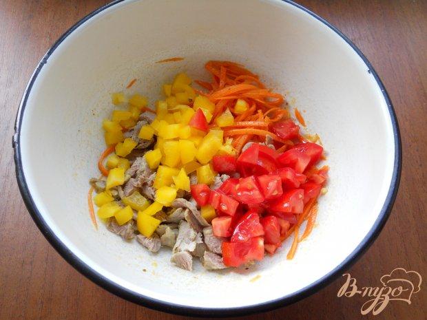 """Салат """"Венеция"""" с мясом и корейской морковью"""