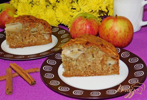 фото рецепта: Кокосовый пирог с яблоками