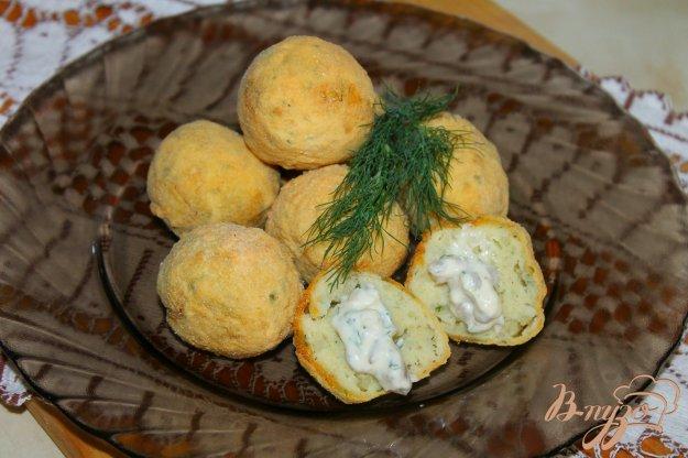 фото рецепта: Картофельные шарики в кукурузной панировке