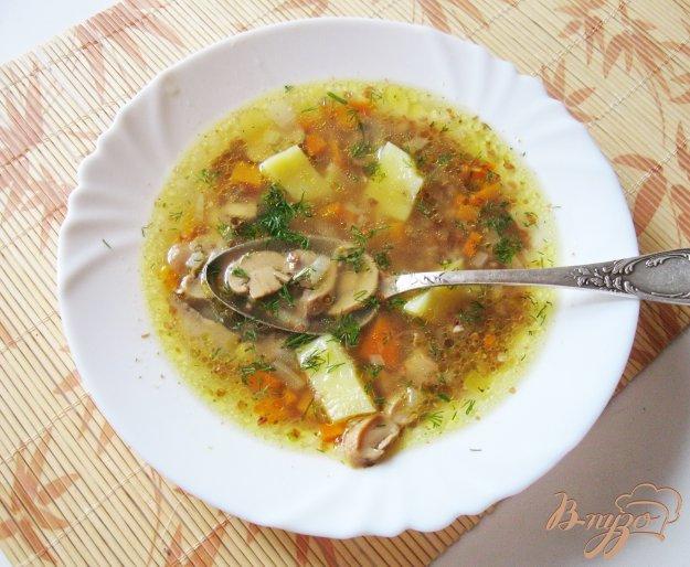 фото рецепта: Гречневый суп с шампиньонами