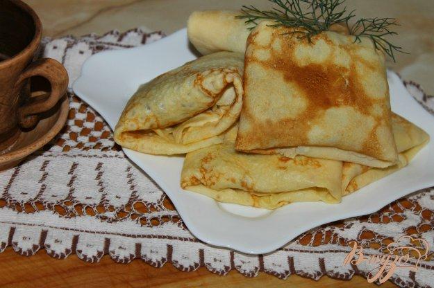 фото рецепта: Блины с куриной печенью и луком