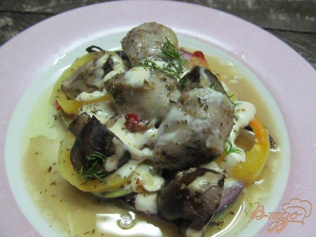 фото рецепта: Запеченные овощи с домашними колбасками
