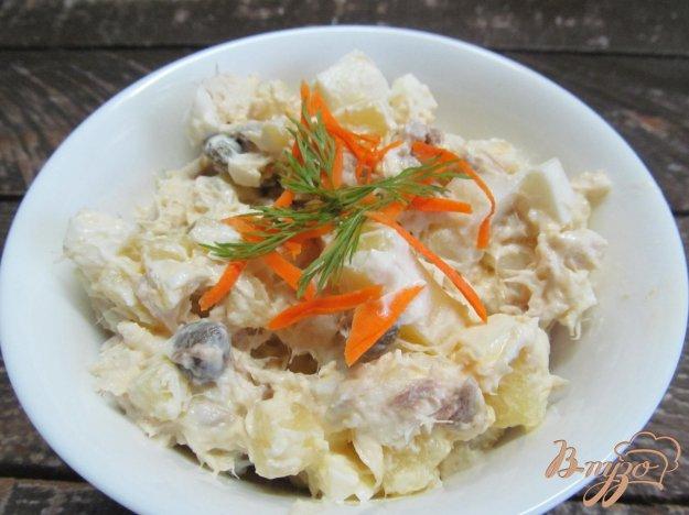 фото рецепта: Салат из рыбы горячего копчения