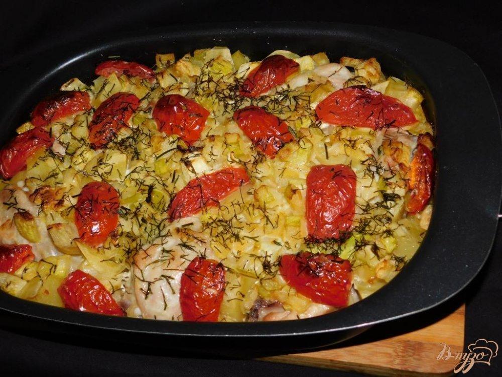 простой рецепт из духовки курица с овощами