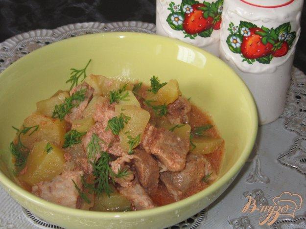 фото рецепта: Жаркое из свинины с картофелем и салом