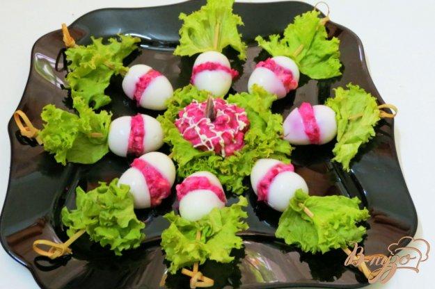 фото рецепта: Перепелиные яйца фаршированные