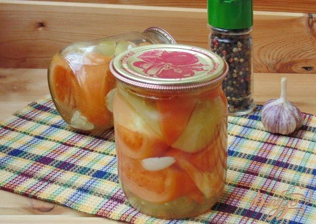 фото рецепта: Маринованные зеленые помидоры