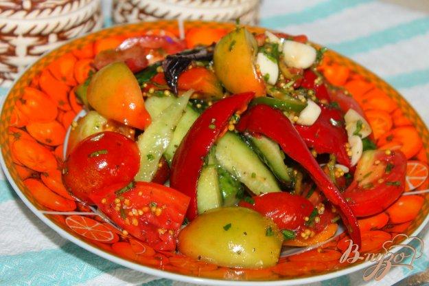 фото рецепта: Маринованные овощи с горчицей, медом и чили