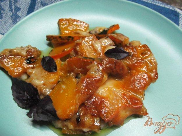фото рецепта: Тыквенный десерт с сыром моцарелла
