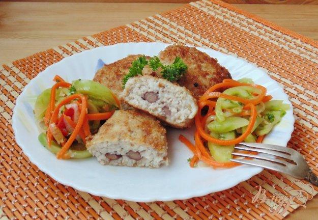фото рецепта: Мясные зразы с красной консервированной фасолью