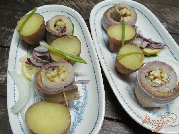 фото рецепта: Рольмопсы с яблоком