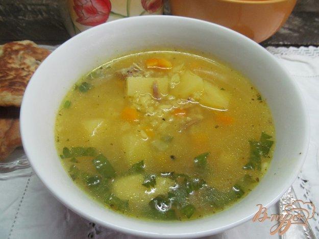 фото рецепта: Суп с рисом и тыквой на утином бульоне