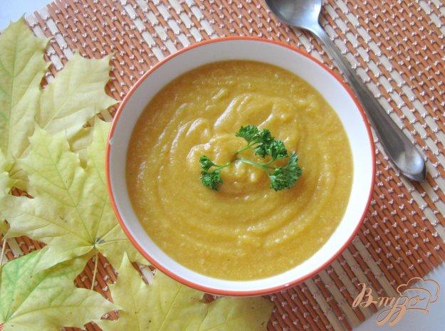 фото рецепта: Суп-пюре с тыквой и курицей