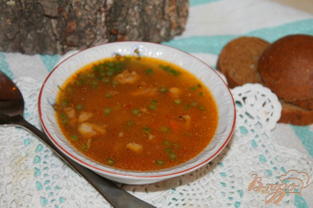 фото рецепта: Суп со свининой и консервированной фасолью