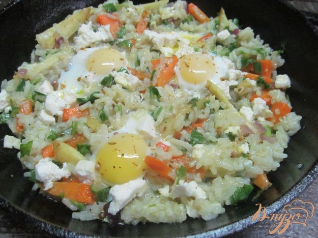 фото рецепта: Рис с овощами и яйцами
