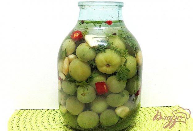 фото рецепта: Помидоры зелёные солёные