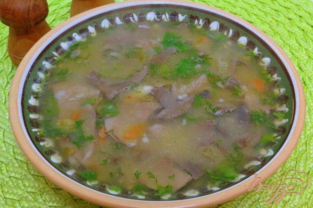 фото рецепта: Суп с лесными вешенками и картофельным пюре