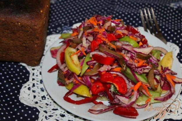 фото рецепта: Салат с редькой и зелеными помидорами