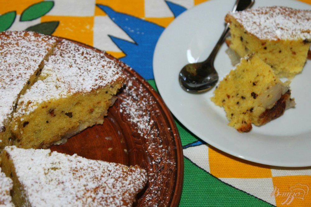 Пирог с грушами и грецкими орехами рецепт
